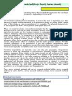 Survey Research Methods PDF by Jr Floyd j Fow