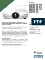 Epson EH-TW7300 4K-Enhanced 3D Home Theatre Projector Datasheet