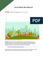 4 Kasus Kebakaran Hutan Dan Lahan Di Kalbar SP3