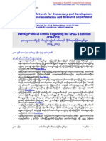 Weekly Political Events Regarding the SPDC's Election (019-2010)