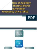 Optimization of Auxiliary Power at Thermal Power Plant Using Variable Frequency Drive