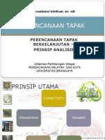 Perencanaan Tapak Sustainable Site Design Prinsip Analisis