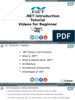 Dot Net Introduction Training