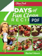 CFC 7Days of Fun Clean Recipes