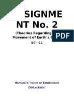 Theories Regarding Movement of Earth's Crust