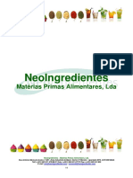 Listagem NeoIngredientes