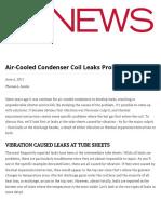 Air-Cooled Condenser Coil Leaks Problem_ACHRNEWS_2011!06!06