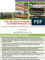 The Influence of Brand Equity on Customer Purchase Decision in Parks and Reserves of Kenya