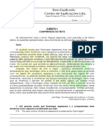 3. Contos Do Século XX - Teste Diagnóstico