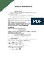 Notiuni generale de teorie muzicala