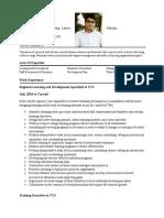 Shanawar's Resume