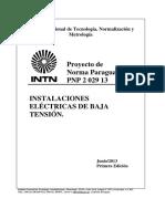 INTN PNP Instalaciones Electricas BT
