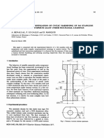 AN EXPERIMENTAL INVESTIGATION OF CYCLIC HARDENING OF 316 STAINLESS STEEL AND OF 2024 ALUMINIUM ALLOY UNDER MULTIAXIAL LOADINGS