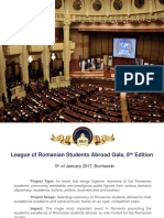 Presentation Folder Gala LSRS January 5th 2017 Bucharest