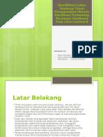 Identifikasi Lahan Tambang Timah Menggunakan Metode Klasifikasi Terbimbing