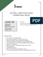 LRN Level B2 January 2016 Exam Paper