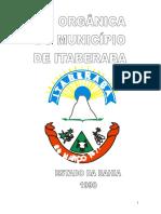 Lei Organica Do Municipio de Itaberaba