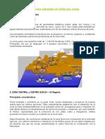 Recursos Naturales en Chile Por Zona