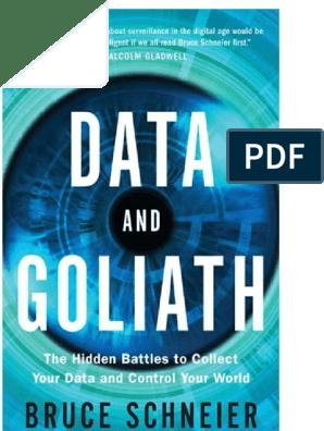 Data and Goliath_ the Hidden Ba - Bruce Schneier