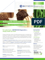 BIOTECON Diagnostics Product Sheet Salmonella Detection Kit