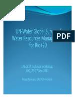 UN Water Survey for Rio+20
