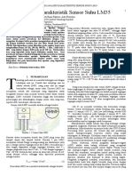 Analisis Karakteristik Sensor Suhu LM35