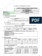 Informe de Liquidacion Toribio Puquio