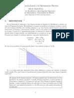 De La Optimizacion Lineal a La Optimizacion Discreta