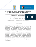 Circular 1 I Jornadas Binacionales Argentino Uruguayas de Cementerios Patrimoniales