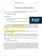 Introduction Ecologie