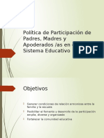 Política de Participación de La Familia y La Escuela