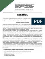 EVALUACION DIAGNOSTICA DE 5° español y mate-1