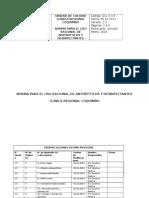 Gcl 3.3.3 Norma Para El Uso Racional de Antisépticos y Desinfectantes
