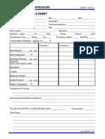 Compressor Application Data Sheet