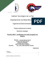 Practica Electronica Analogica NO.1