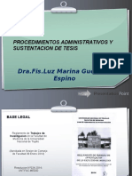 PROCEDIMIENTOS ADMINISTRATIVOS Y SUSTENTACION DE TESIS (1).pptx