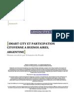 SMART CITY ET PARTICIPATION CITOYENNE A BUENOS AIRES, ARGENTINE - Léa Delmas_Marie Zuliani - Rapport UdM 2016