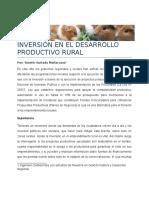 Inversión en Desarrollo Productivo
