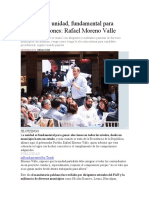16.10.16 La Unidad, Fundamental Para Ganar Elecciones- Rafael Moreno Valle