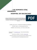 33o Curso de Soporte Vital Avanzado Del Hospital de Galdacano