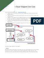 Pengetahuan Dasar Diagram Use Case