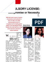 Compulsory License-Compromise or Necessity(Legal Era) in India