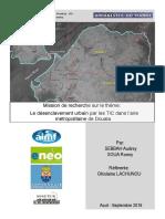 Le désenclavement urbain par les TIC dans l'aire métropolitaine de Douala - SEBBAH Audrey_SOUA Ronny - Rapport UdM 2016