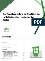 Barómetro sobre La Gestión de Satisfacción del Cliente 2016
