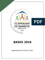 Bases Olimpiadas 2016