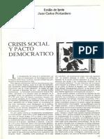 Crisis Social y Pacto Democratico. Punto de Vista 21. 1984.