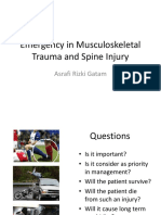 Emergency in Musculoskeletal Trauma and Spinal Injuries - Dr. Asrafi Rizki Gatam SpOT