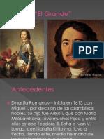 Unidad 3 Pedro El Grande - Daniel Bracho