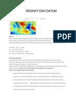 Sistem Koordinat Dan Datum Geodetik