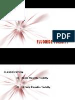 Fluoride Toxicity